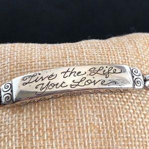 Brighton Live the Life you Love Silver ID Bracelet